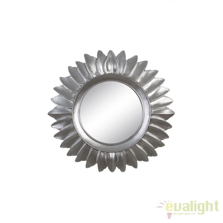 Oglinda decorativa din rasina finisaj argintiu Plata, 35cm SX-102605, Oglinzi decorative, Corpuri de iluminat, lustre, aplice, veioze, lampadare, plafoniere. Mobilier si decoratiuni, oglinzi, scaune, fotolii. Oferte speciale iluminat interior si exterior. Livram in toata tara.  a
