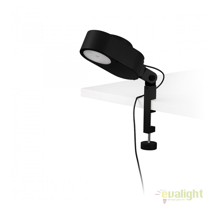 Lampa LED dimabila cu clips design ultra-modern INVITING neagra 57304, Veioze LED, Lampadare LED, Corpuri de iluminat, lustre, aplice, veioze, lampadare, plafoniere. Mobilier si decoratiuni, oglinzi, scaune, fotolii. Oferte speciale iluminat interior si exterior. Livram in toata tara.  a