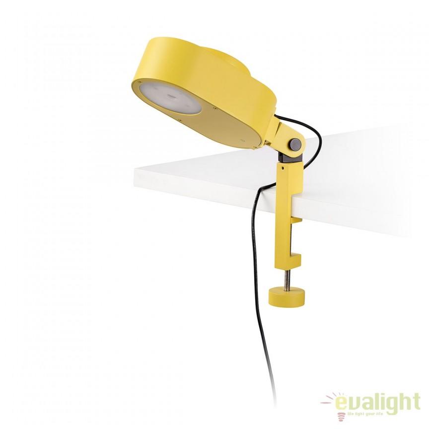 Lampa LED dimabila cu clips design ultra-modern INVITING galbena 57305, Veioze LED, Lampadare LED, Corpuri de iluminat, lustre, aplice, veioze, lampadare, plafoniere. Mobilier si decoratiuni, oglinzi, scaune, fotolii. Oferte speciale iluminat interior si exterior. Livram in toata tara.  a