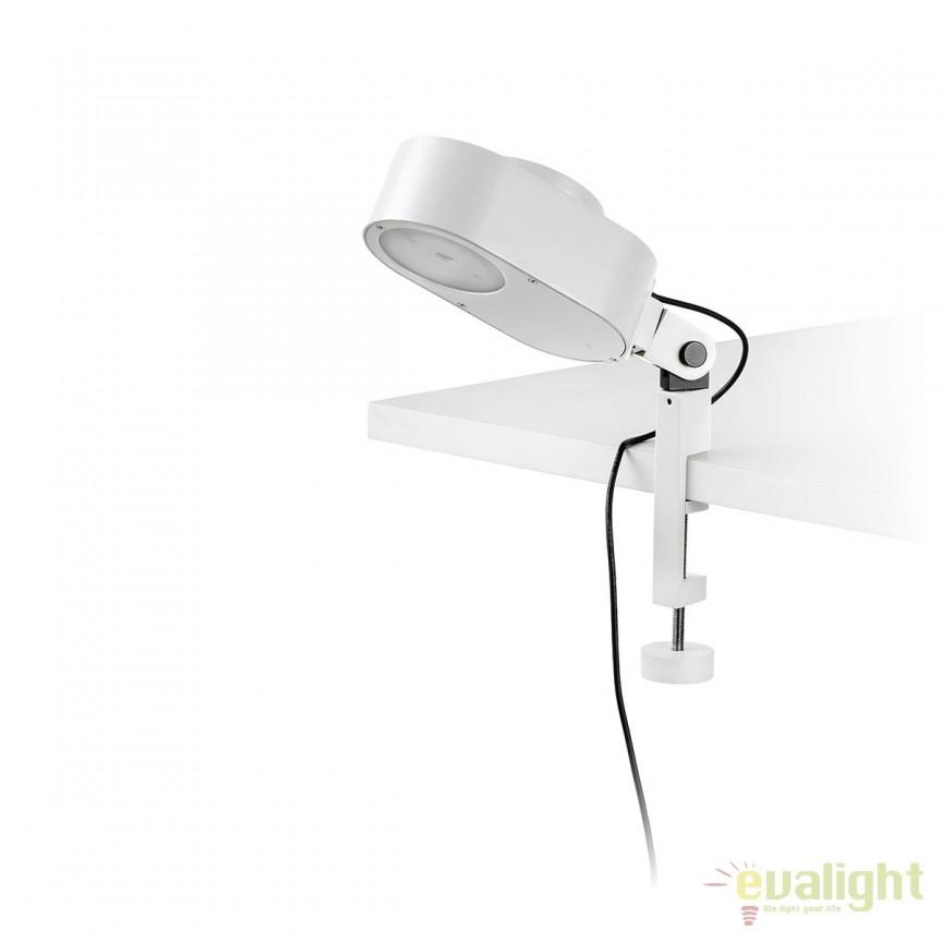 Lampa LED dimabila cu clips design ultra-modern INVITING alba 57303 , Veioze LED, Lampadare LED, Corpuri de iluminat, lustre, aplice, veioze, lampadare, plafoniere. Mobilier si decoratiuni, oglinzi, scaune, fotolii. Oferte speciale iluminat interior si exterior. Livram in toata tara.  a