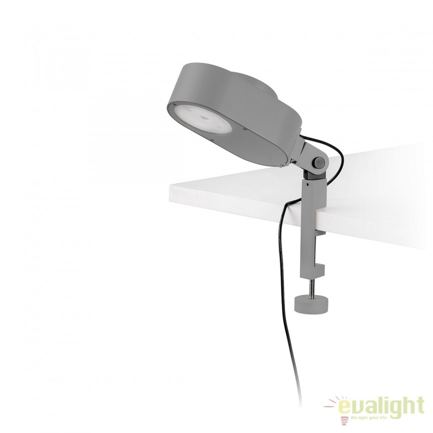 Lampa LED dimabila cu clips design ultra-modern INVITING gri 57310 , Veioze LED, Lampadare LED, Corpuri de iluminat, lustre, aplice, veioze, lampadare, plafoniere. Mobilier si decoratiuni, oglinzi, scaune, fotolii. Oferte speciale iluminat interior si exterior. Livram in toata tara.  a