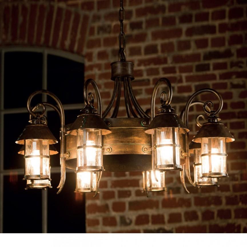 Candelabru design medieval, iluminat exterior din fier forjat, HL 2591, Lustre Exterior Fier Forjat , Corpuri de iluminat, lustre, aplice, veioze, lampadare, plafoniere. Mobilier si decoratiuni, oglinzi, scaune, fotolii. Oferte speciale iluminat interior si exterior. Livram in toata tara.  a