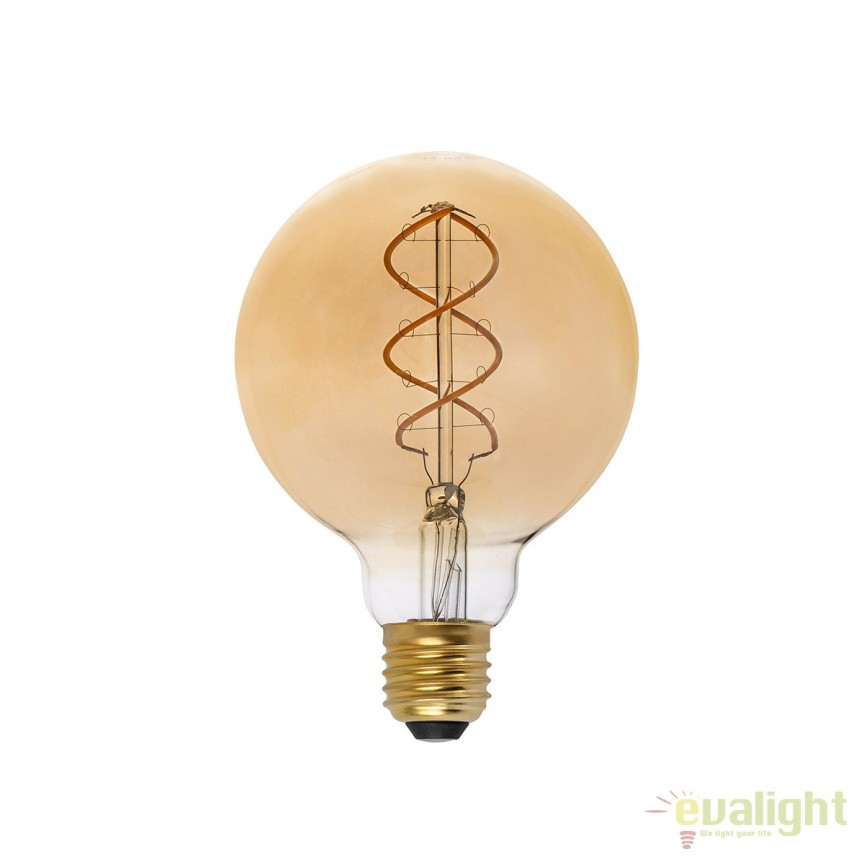 BEC LED filament dimabil 5W E27 G95 2000K lumina calda AMBER 17408 Faro Barcelona , BECURI ILUMINAT, Corpuri de iluminat, lustre, aplice, veioze, lampadare, plafoniere. Mobilier si decoratiuni, oglinzi, scaune, fotolii. Oferte speciale iluminat interior si exterior. Livram in toata tara.  a