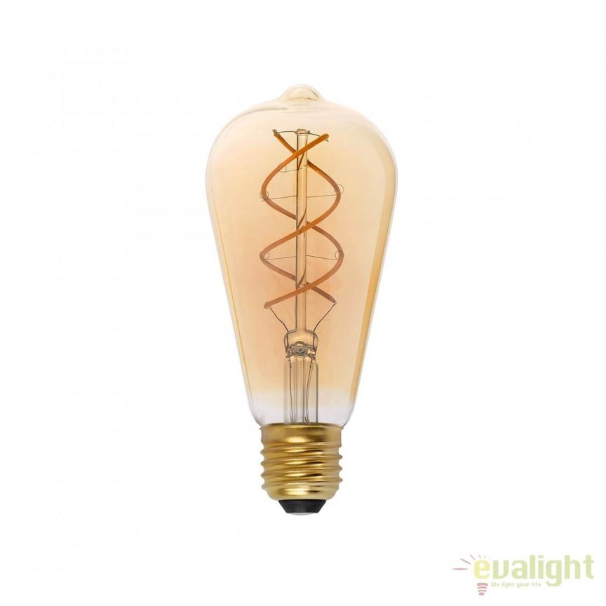 BEC LED filament dimabil 5W E27 2000K lumina calda AMBER 17409 Faro Barcelona , BECURI ILUMINAT, Corpuri de iluminat, lustre, aplice, veioze, lampadare, plafoniere. Mobilier si decoratiuni, oglinzi, scaune, fotolii. Oferte speciale iluminat interior si exterior. Livram in toata tara.  a