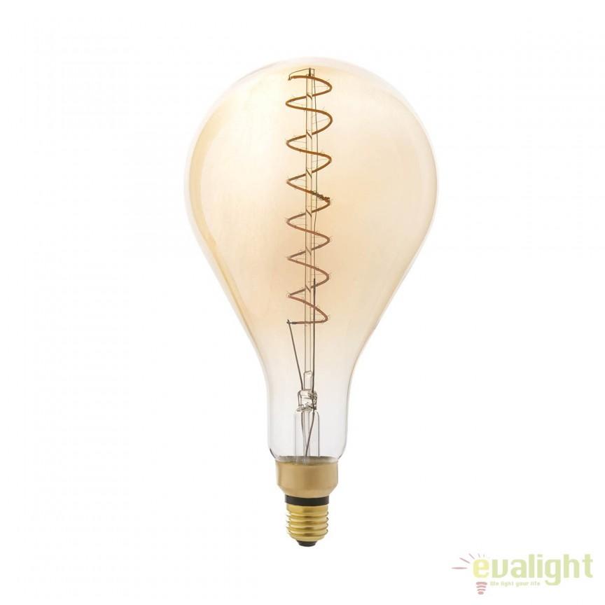 BEC filament LED dimabil decorativ 5W E27 A160 2000K lumina calda AMBER 17447 Faro Barcelona , BECURI ILUMINAT, Corpuri de iluminat, lustre, aplice, veioze, lampadare, plafoniere. Mobilier si decoratiuni, oglinzi, scaune, fotolii. Oferte speciale iluminat interior si exterior. Livram in toata tara.  a