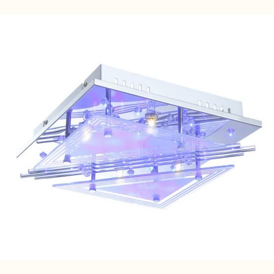 Plafoniera LED cu Telecomanda, 30x30cm, Spinosa 68246-4 GL, Lampi LED si Telecomanda, Corpuri de iluminat, lustre, aplice, veioze, lampadare, plafoniere. Mobilier si decoratiuni, oglinzi, scaune, fotolii. Oferte speciale iluminat interior si exterior. Livram in toata tara.  a