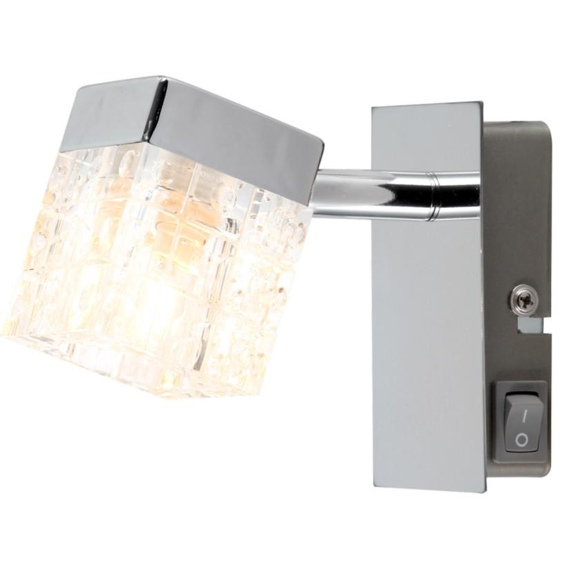 Aplica de perete moderna BARON 56183-1 GL, Outlet, Corpuri de iluminat, lustre, aplice, veioze, lampadare, plafoniere. Mobilier si decoratiuni, oglinzi, scaune, fotolii. Oferte speciale iluminat interior si exterior. Livram in toata tara.  a