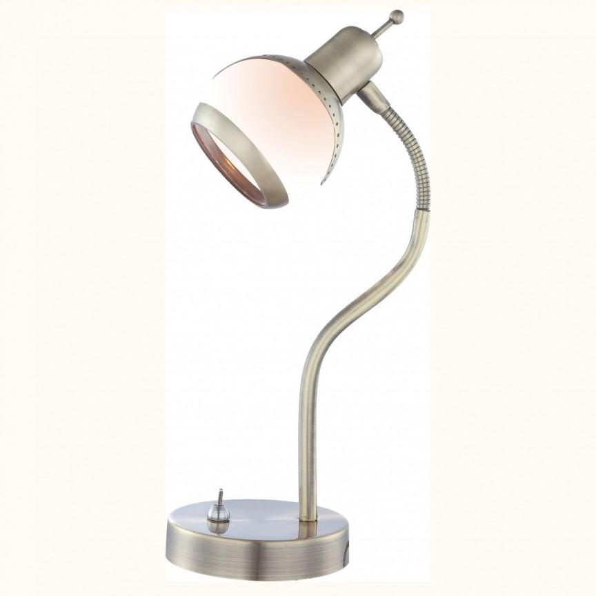 Veioza, lampa de masa Galvin 56101-1T GL, Outlet, Corpuri de iluminat, lustre, aplice, veioze, lampadare, plafoniere. Mobilier si decoratiuni, oglinzi, scaune, fotolii. Oferte speciale iluminat interior si exterior. Livram in toata tara.  a