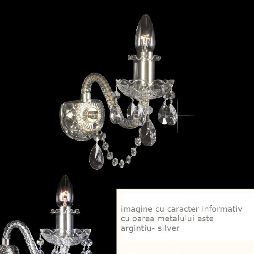 Aplica cristal Bohemia design LUX, N21 009/ 01/1-A; SILVER, lip., PROMOTII,  a