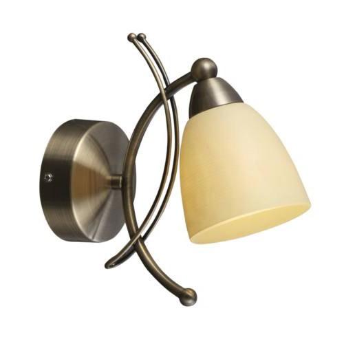 Aplica de perete design clasic Bugara 60201W GL, Outlet, Corpuri de iluminat, lustre, aplice, veioze, lampadare, plafoniere. Mobilier si decoratiuni, oglinzi, scaune, fotolii. Oferte speciale iluminat interior si exterior. Livram in toata tara.  a