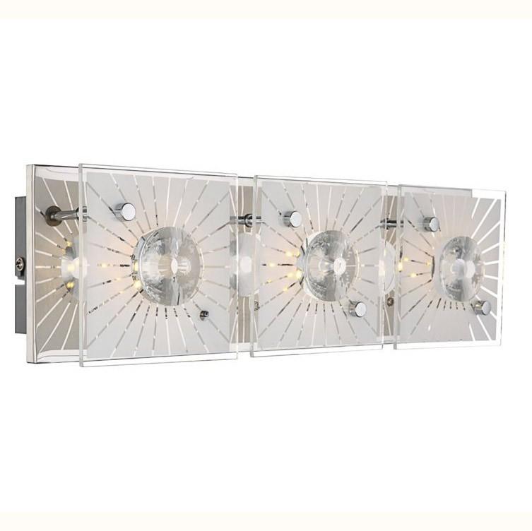 Aplica de perete cu cristale 37x11cm LED Santi 41691-3 GL, Outlet, Corpuri de iluminat, lustre, aplice, veioze, lampadare, plafoniere. Mobilier si decoratiuni, oglinzi, scaune, fotolii. Oferte speciale iluminat interior si exterior. Livram in toata tara.  a