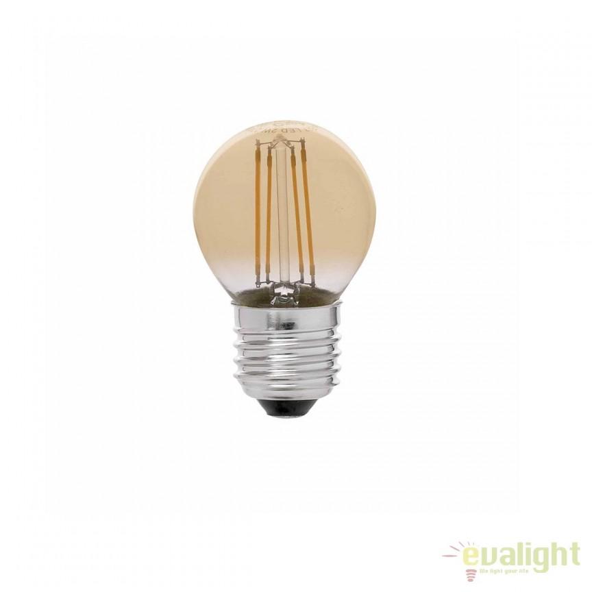 BEC LED E27 dimabil cu filament 4W G45 2200K lumina calda 17493 Faro Barcelona, BECURI ILUMINAT, Corpuri de iluminat, lustre, aplice, veioze, lampadare, plafoniere. Mobilier si decoratiuni, oglinzi, scaune, fotolii. Oferte speciale iluminat interior si exterior. Livram in toata tara.  a
