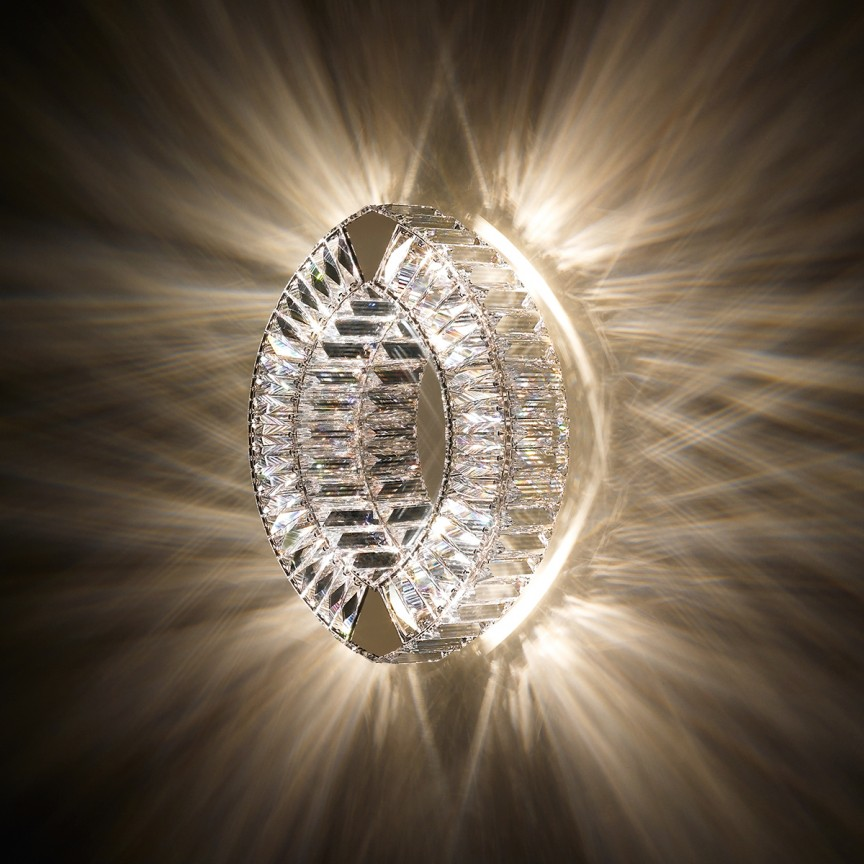 Aplica design LUX cristal Swarovski Eyris SEY605, Aplice Cristal Swarovski, Corpuri de iluminat, lustre, aplice, veioze, lampadare, plafoniere. Mobilier si decoratiuni, oglinzi, scaune, fotolii. Oferte speciale iluminat interior si exterior. Livram in toata tara.  a
