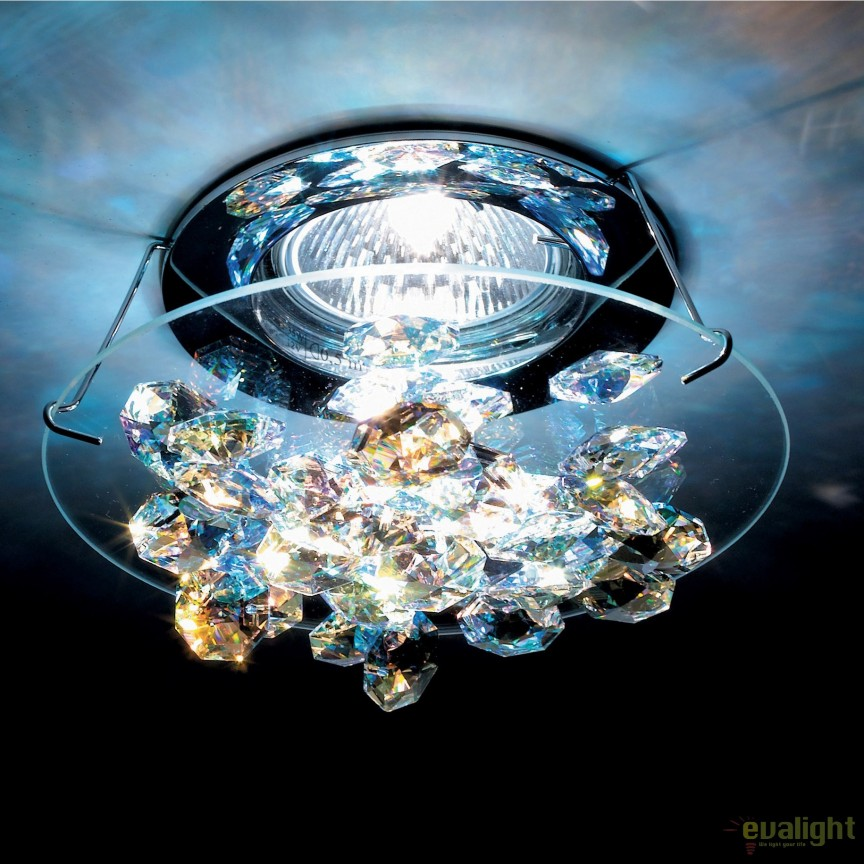 Spot incastrabil design LUX cristal Swarovski Aurora Borealis Ice SCE405, Spoturi tavan fals Cristal, Corpuri de iluminat, lustre, aplice, veioze, lampadare, plafoniere. Mobilier si decoratiuni, oglinzi, scaune, fotolii. Oferte speciale iluminat interior si exterior. Livram in toata tara.  a