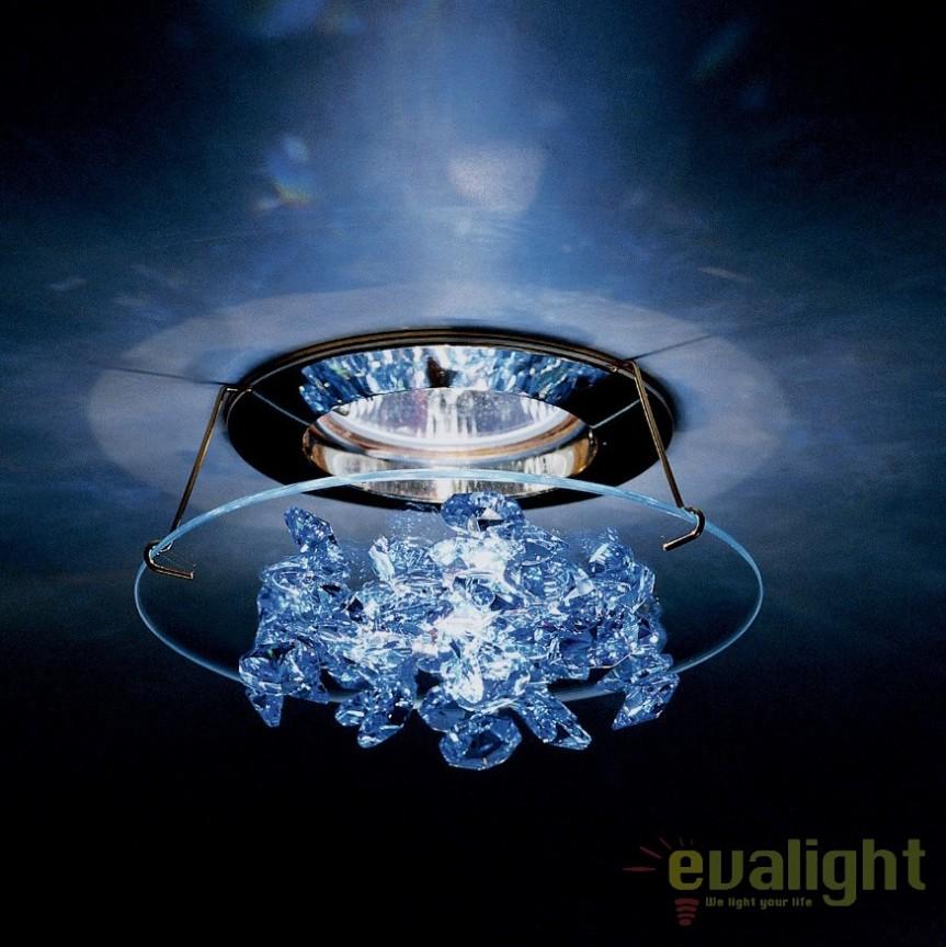 Spot incastrabil design LUX cristal Swarovski Medium Sapphire Ice SCE405, Spoturi tavan fals Cristal, Corpuri de iluminat, lustre, aplice, veioze, lampadare, plafoniere. Mobilier si decoratiuni, oglinzi, scaune, fotolii. Oferte speciale iluminat interior si exterior. Livram in toata tara.  a