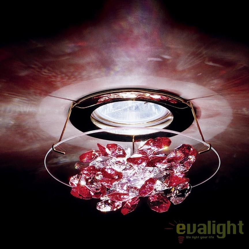 Spot incastrabil design LUX cristal Swarovski Rosaline Ice SCE405, Spoturi tavan fals Cristal, Corpuri de iluminat, lustre, aplice, veioze, lampadare, plafoniere. Mobilier si decoratiuni, oglinzi, scaune, fotolii. Oferte speciale iluminat interior si exterior. Livram in toata tara.  a