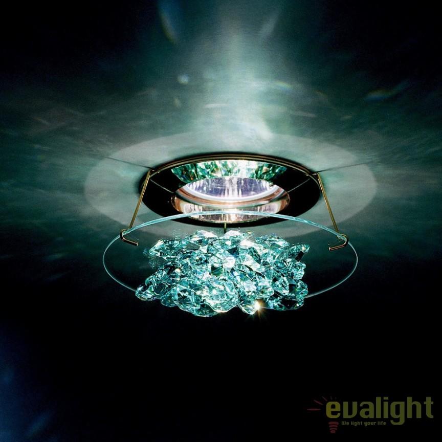 Spot incastrabil design LUX cristal Swarovski Antique Green Ice SCE405, Spoturi tavan fals Cristal, Corpuri de iluminat, lustre, aplice, veioze, lampadare, plafoniere. Mobilier si decoratiuni, oglinzi, scaune, fotolii. Oferte speciale iluminat interior si exterior. Livram in toata tara.  a