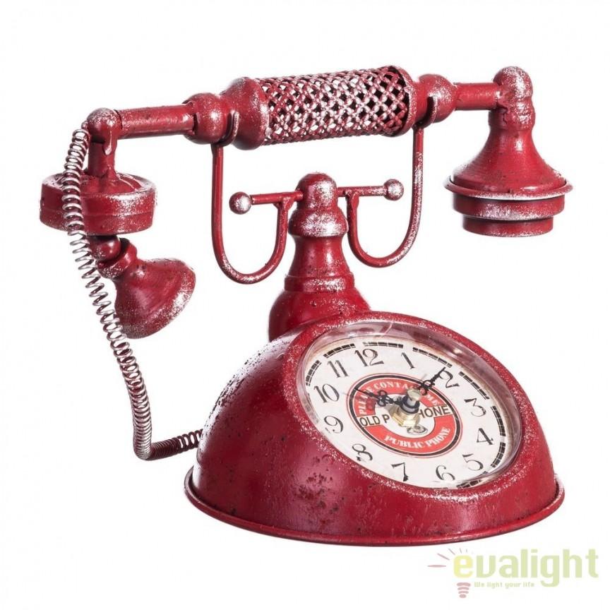 Ceas decorativ design industrial vintage Telefon SX-103482, MOBILA SI DECORATIUNI , Corpuri de iluminat, lustre, aplice, veioze, lampadare, plafoniere. Mobilier si decoratiuni, oglinzi, scaune, fotolii. Oferte speciale iluminat interior si exterior. Livram in toata tara.  a