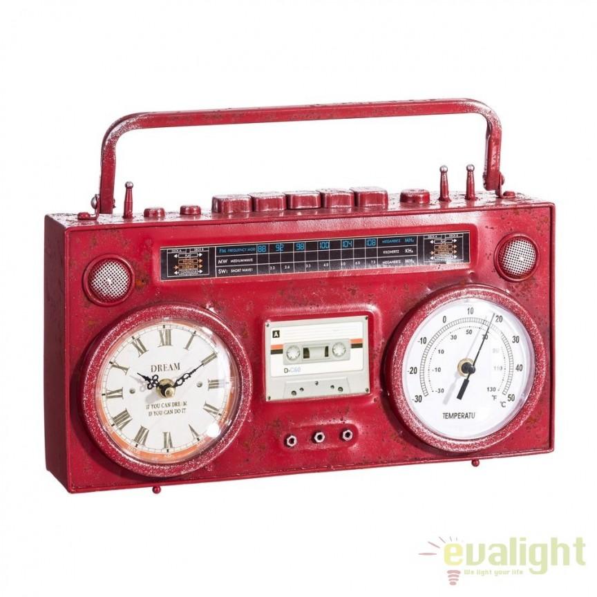 Ceas decorativ design industrial vintage Radio SX-103486, MOBILA SI DECORATIUNI , Corpuri de iluminat, lustre, aplice, veioze, lampadare, plafoniere. Mobilier si decoratiuni, oglinzi, scaune, fotolii. Oferte speciale iluminat interior si exterior. Livram in toata tara.  a