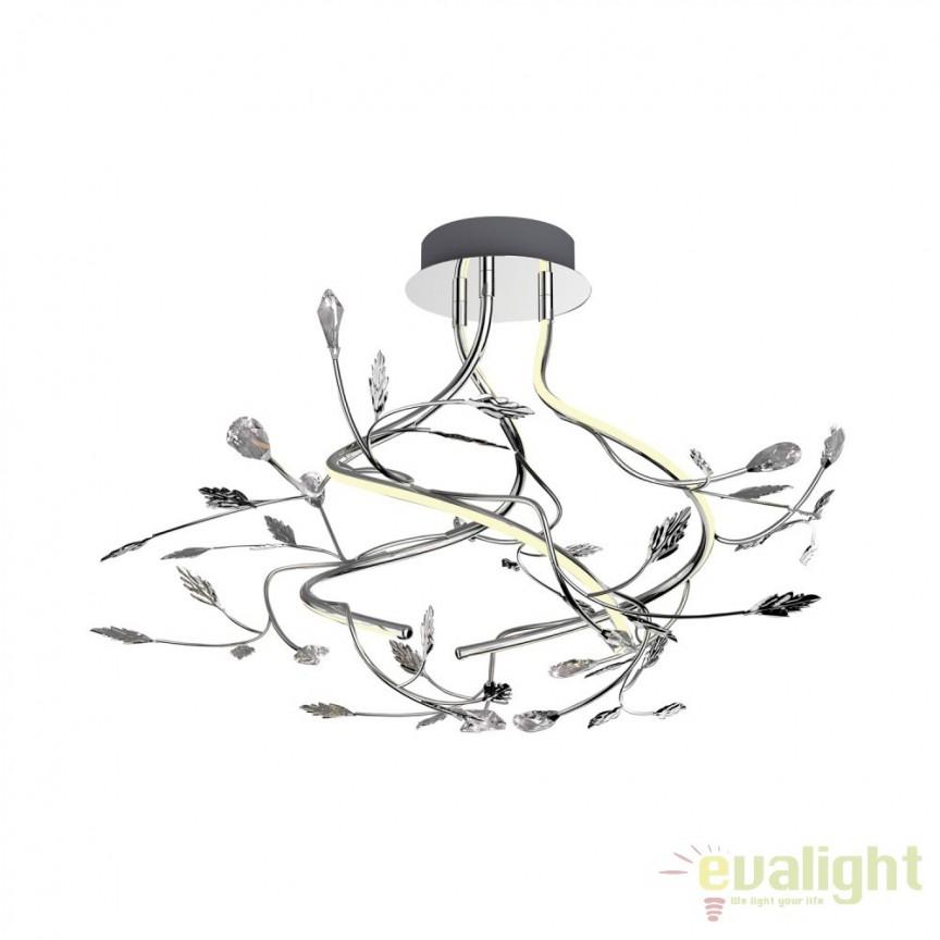 Lustra aplicata eleganta design modern iluminat LED BELLA PL170511-3 ZL, Lustre moderne aplicate, Corpuri de iluminat, lustre, aplice, veioze, lampadare, plafoniere. Mobilier si decoratiuni, oglinzi, scaune, fotolii. Oferte speciale iluminat interior si exterior. Livram in toata tara.  a