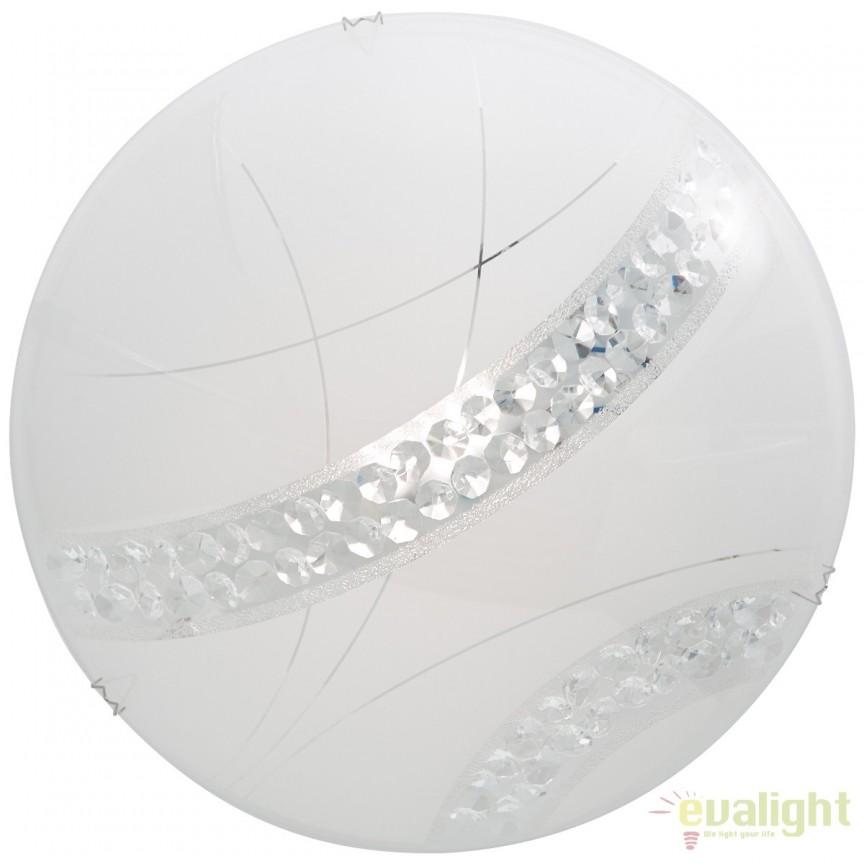 Aplica perete sau tavan, design modern cu iluminat LED PINOLA 30cm G96866/85 BL, Aplice de perete LED, Corpuri de iluminat, lustre, aplice, veioze, lampadare, plafoniere. Mobilier si decoratiuni, oglinzi, scaune, fotolii. Oferte speciale iluminat interior si exterior. Livram in toata tara.  a