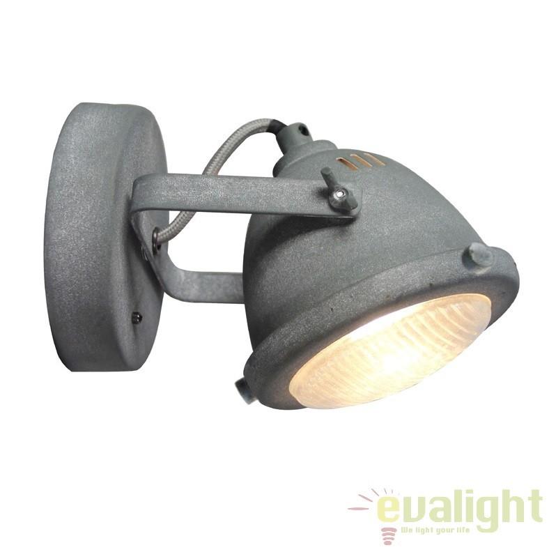 Aplica design Industrial GU10 LED CARMEN gri ciment G55410/70 BL, Spoturi - iluminat - cu 1 spot, Corpuri de iluminat, lustre, aplice, veioze, lampadare, plafoniere. Mobilier si decoratiuni, oglinzi, scaune, fotolii. Oferte speciale iluminat interior si exterior. Livram in toata tara.  a