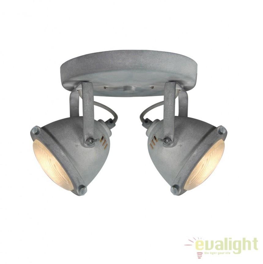 Plafoniera design Industrial GU10 LED CARMEN gri ciment G55424/70 BL, Plafoniere, Spots, Corpuri de iluminat, lustre, aplice, veioze, lampadare, plafoniere. Mobilier si decoratiuni, oglinzi, scaune, fotolii. Oferte speciale iluminat interior si exterior. Livram in toata tara.  a
