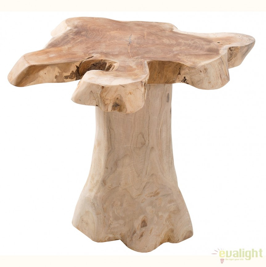 Masuta din lemn de tec Nature Root 40cm A-38237 VC, MOBILA SI DECORATIUNI , Corpuri de iluminat, lustre, aplice, veioze, lampadare, plafoniere. Mobilier si decoratiuni, oglinzi, scaune, fotolii. Oferte speciale iluminat interior si exterior. Livram in toata tara.  a