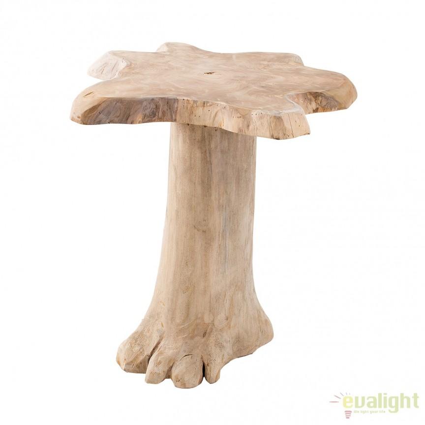 Masuta din lemn de tec Nature Root 60cm A-38238 VC, MOBILA SI DECORATIUNI , Corpuri de iluminat, lustre, aplice, veioze, lampadare, plafoniere. Mobilier si decoratiuni, oglinzi, scaune, fotolii. Oferte speciale iluminat interior si exterior. Livram in toata tara.  a