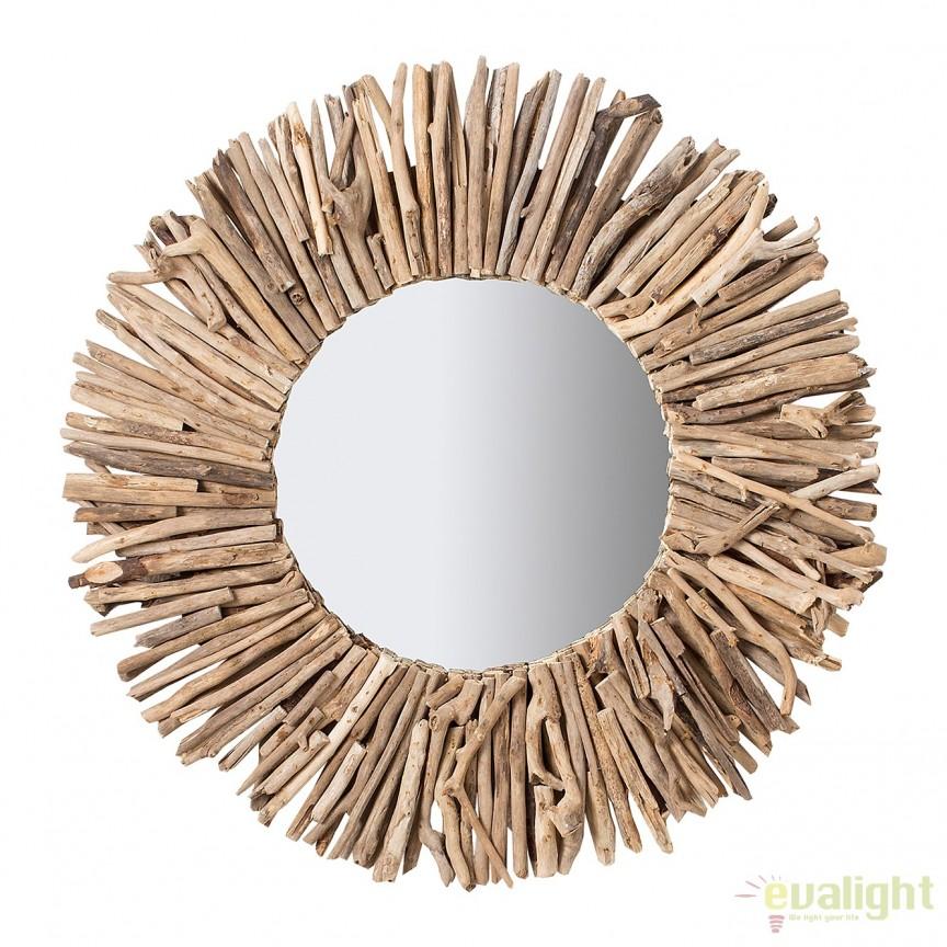 Oglinda decorativa design unicat Driftwood 80cm A-38248 VC, Oglinzi decorative, Corpuri de iluminat, lustre, aplice, veioze, lampadare, plafoniere. Mobilier si decoratiuni, oglinzi, scaune, fotolii. Oferte speciale iluminat interior si exterior. Livram in toata tara.  a