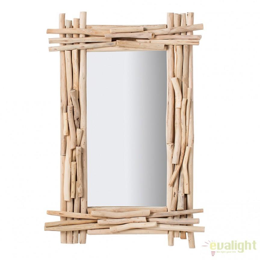 Oglinda decorativa design unicat Driftwood 90x60cm A-38249 VC, Oglinzi decorative, Corpuri de iluminat, lustre, aplice, veioze, lampadare, plafoniere. Mobilier si decoratiuni, oglinzi, scaune, fotolii. Oferte speciale iluminat interior si exterior. Livram in toata tara.  a
