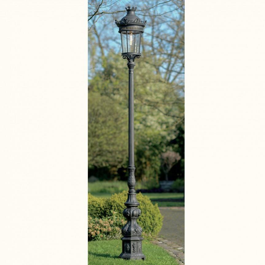 Stalp iluminat exterior din fier forjat, inaltime 370cm, AL 6563, ILUMINAT FIER FORJAT DE LUX ,  a