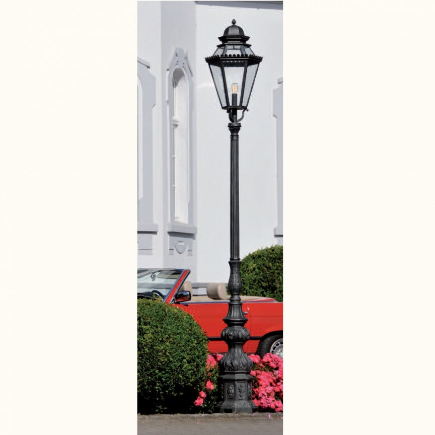 Stalp iluminat exterior din fier forjat, inaltime 180cm, AL 6753, ILUMINAT FIER FORJAT DE LUX ,  a