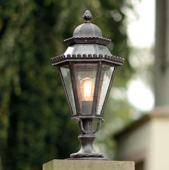 Stalp iluminat exterior din fier forjat, inaltime 76cm, AL 6709, ILUMINAT FIER FORJAT DE LUX ,  a