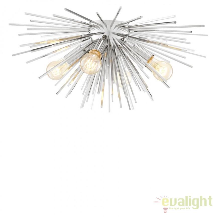 Lustra aplicata design LUX Boivin nickel 112384 HZ, Lustre moderne aplicate, Corpuri de iluminat, lustre, aplice, veioze, lampadare, plafoniere. Mobilier si decoratiuni, oglinzi, scaune, fotolii. Oferte speciale iluminat interior si exterior. Livram in toata tara.  a