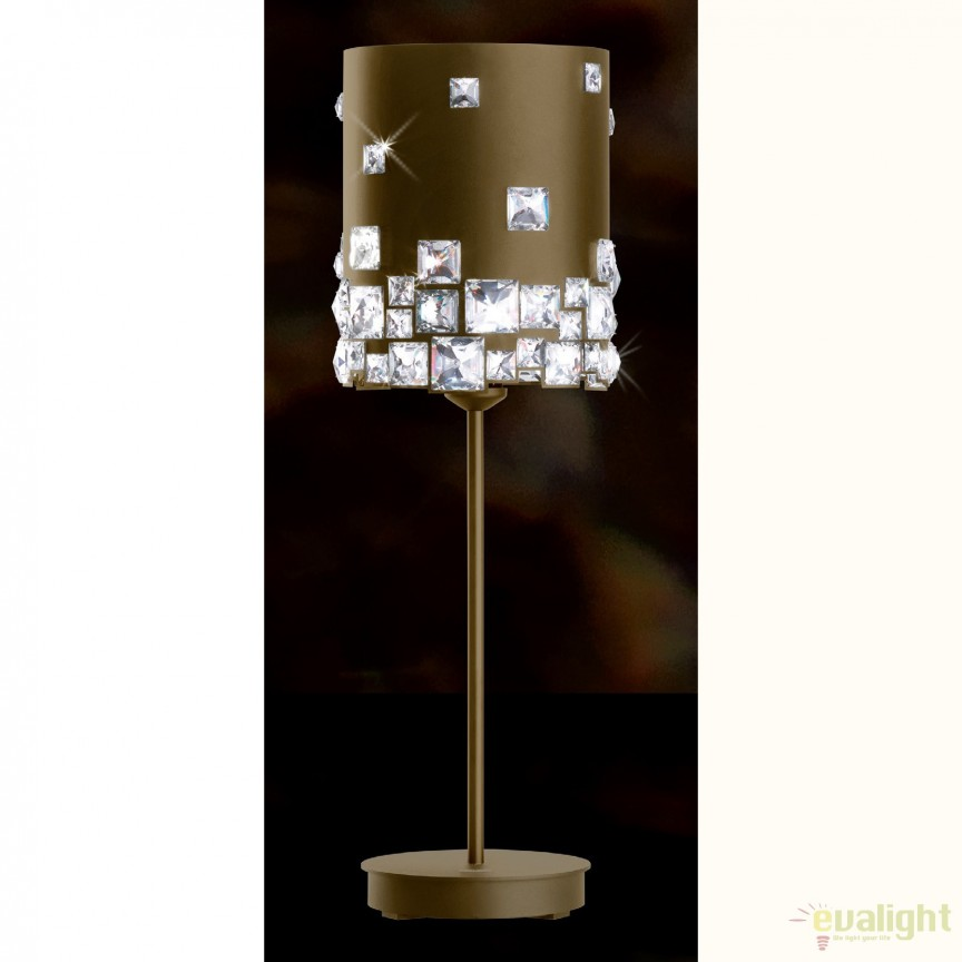 Veioza design LUX cristal Swarovski Mosaix SMX160, bronz A9950NR700300B, Veioze Cristal, Corpuri de iluminat, lustre, aplice, veioze, lampadare, plafoniere. Mobilier si decoratiuni, oglinzi, scaune, fotolii. Oferte speciale iluminat interior si exterior. Livram in toata tara.  a