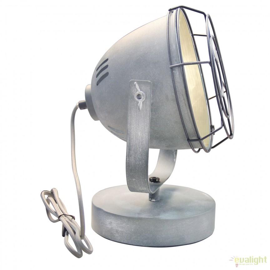 Veioza / Lampa de masa design Industrial CARMEN gri ciment 94927/70 BL, Veioze, Corpuri de iluminat, lustre, aplice, veioze, lampadare, plafoniere. Mobilier si decoratiuni, oglinzi, scaune, fotolii. Oferte speciale iluminat interior si exterior. Livram in toata tara.  a