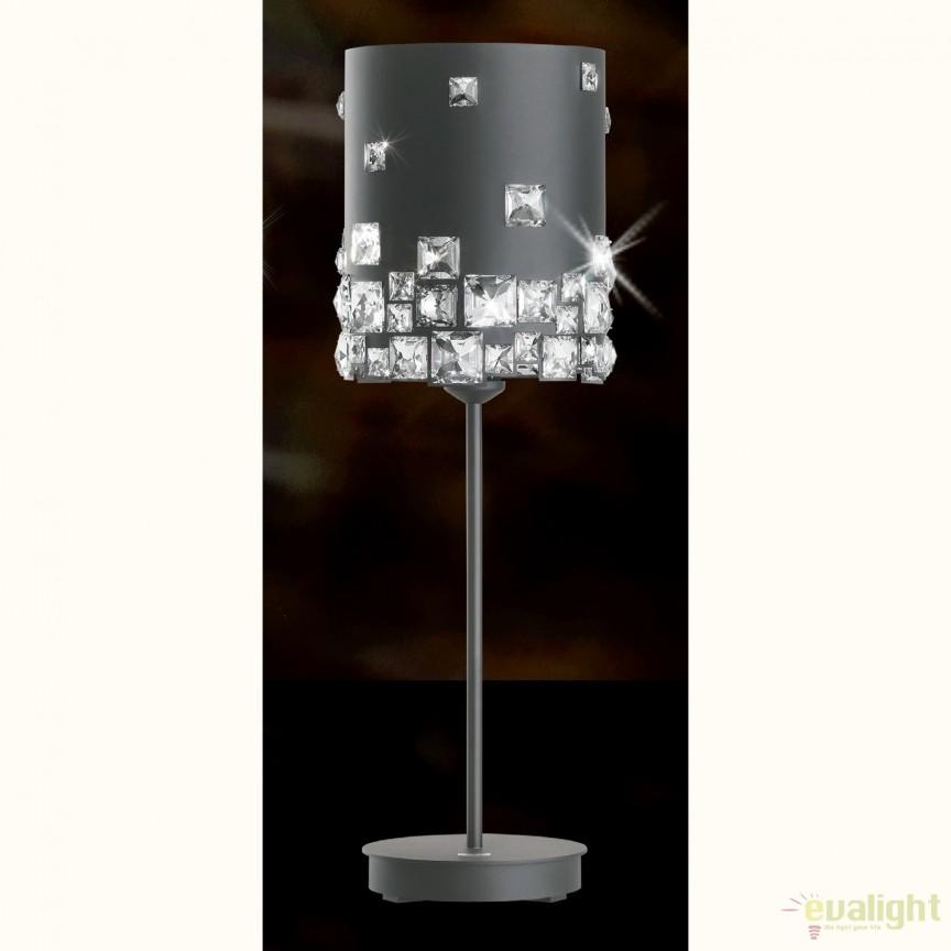 Veioza design LUX cristal Swarovski Mosaix SMX160, gri A9950NR700301B, Veioze Cristal, Corpuri de iluminat, lustre, aplice, veioze, lampadare, plafoniere. Mobilier si decoratiuni, oglinzi, scaune, fotolii. Oferte speciale iluminat interior si exterior. Livram in toata tara.  a