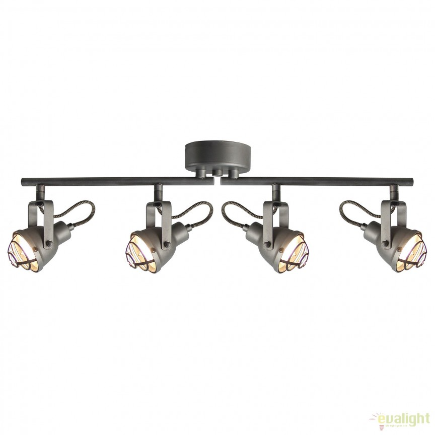 Plafoniera LED stil industrial Bente 4 G26332/84 BL, Plafoniere, Spots, Corpuri de iluminat, lustre, aplice, veioze, lampadare, plafoniere. Mobilier si decoratiuni, oglinzi, scaune, fotolii. Oferte speciale iluminat interior si exterior. Livram in toata tara.  a
