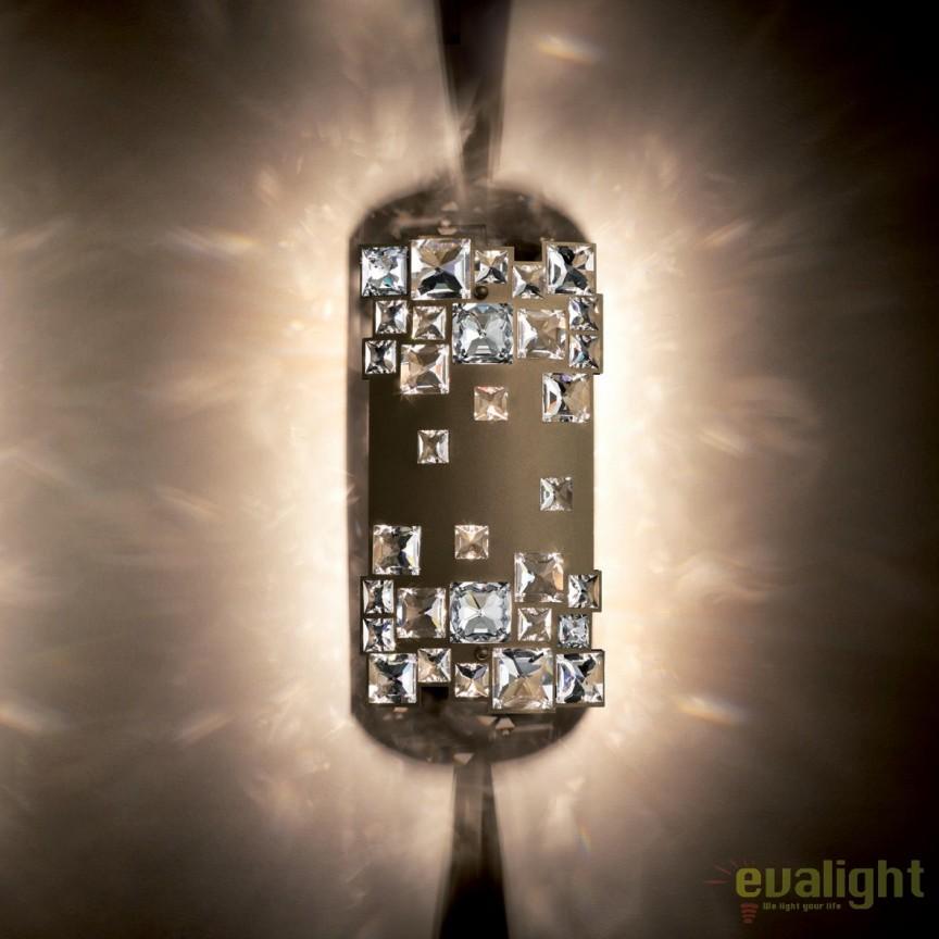 Aplica design LUX cristal Swarovski Mosaix SMX615, bronz A9950NR700291, Aplice Cristal Swarovski, Corpuri de iluminat, lustre, aplice, veioze, lampadare, plafoniere. Mobilier si decoratiuni, oglinzi, scaune, fotolii. Oferte speciale iluminat interior si exterior. Livram in toata tara.  a
