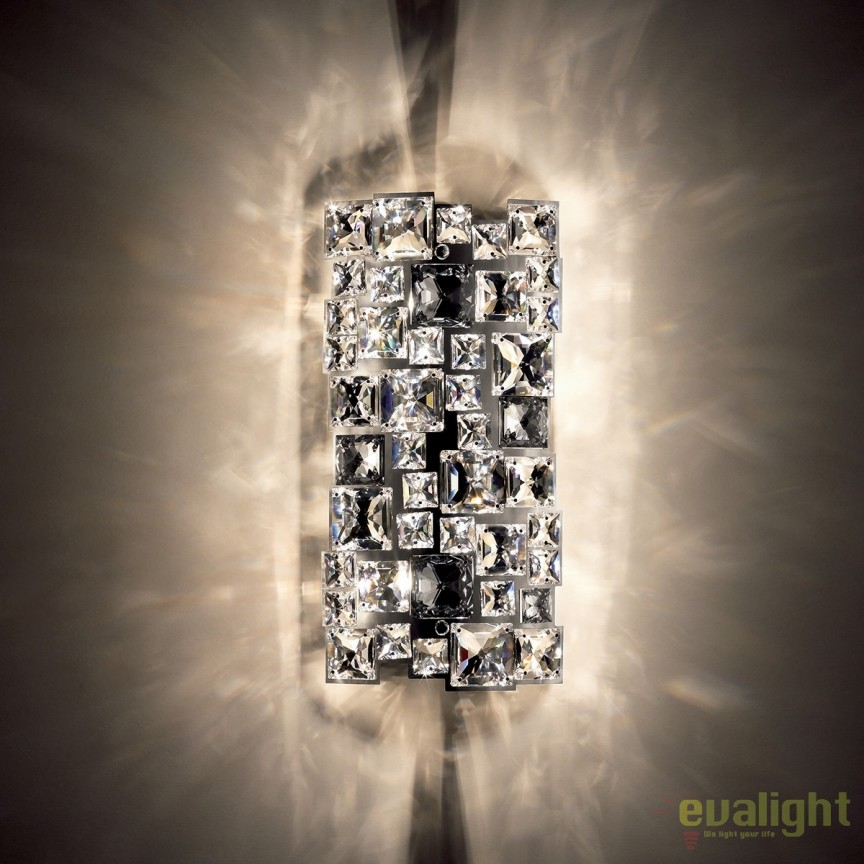 Aplica design LUX cristal Swarovski Mosaix SMX605, full crystal, Lustre Cristal Swarovski , Corpuri de iluminat, lustre, aplice, veioze, lampadare, plafoniere. Mobilier si decoratiuni, oglinzi, scaune, fotolii. Oferte speciale iluminat interior si exterior. Livram in toata tara.  a