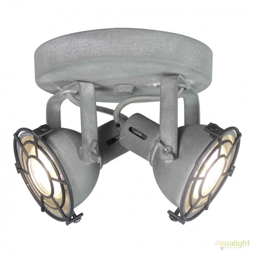 Plafoniera LED stil industrial Jesper gri G54324/70 BL, Plafoniere, Spots, Corpuri de iluminat, lustre, aplice, veioze, lampadare, plafoniere. Mobilier si decoratiuni, oglinzi, scaune, fotolii. Oferte speciale iluminat interior si exterior. Livram in toata tara.  a