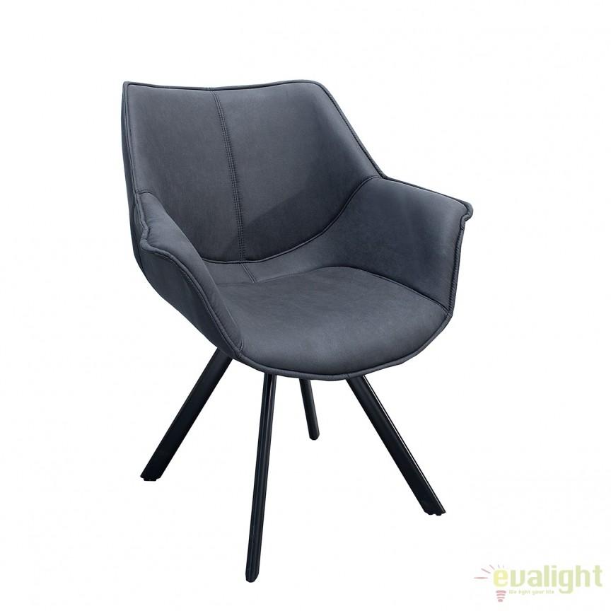 Set de 2 scaune design retro Dutch Retro, gri antic A-37612 VC, Seturi scaune dining, scaune HoReCa, Corpuri de iluminat, lustre, aplice, veioze, lampadare, plafoniere. Mobilier si decoratiuni, oglinzi, scaune, fotolii. Oferte speciale iluminat interior si exterior. Livram in toata tara.  a