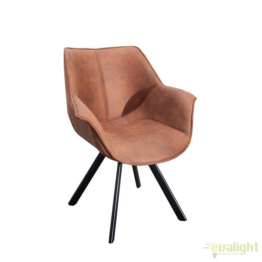 Set de 2 scaune design retro Dutch Retro, maro antic A-37613 VC, Seturi scaune dining, scaune HoReCa, Corpuri de iluminat, lustre, aplice, veioze, lampadare, plafoniere. Mobilier si decoratiuni, oglinzi, scaune, fotolii. Oferte speciale iluminat interior si exterior. Livram in toata tara.  a