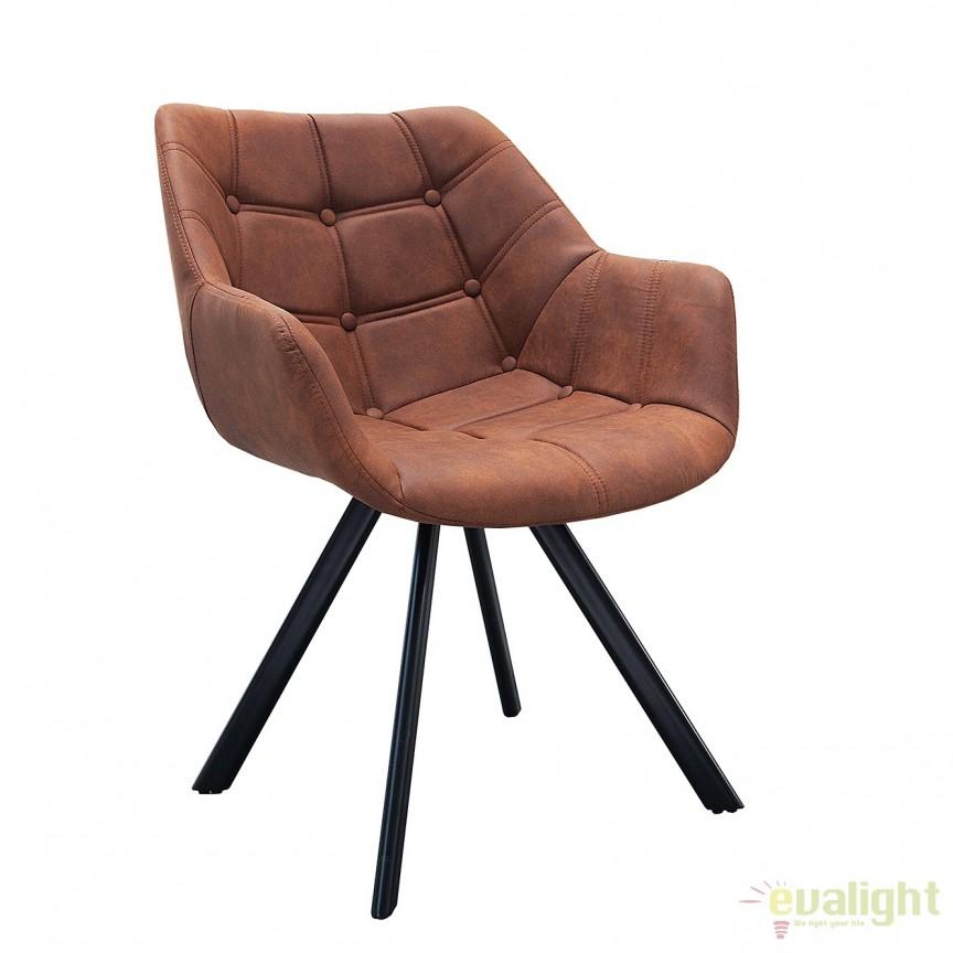 Set de 2 scaune design retro Dutch Courturier, maro antic A-37614 VC, Seturi scaune dining, scaune HoReCa, Corpuri de iluminat, lustre, aplice, veioze, lampadare, plafoniere. Mobilier si decoratiuni, oglinzi, scaune, fotolii. Oferte speciale iluminat interior si exterior. Livram in toata tara.  a