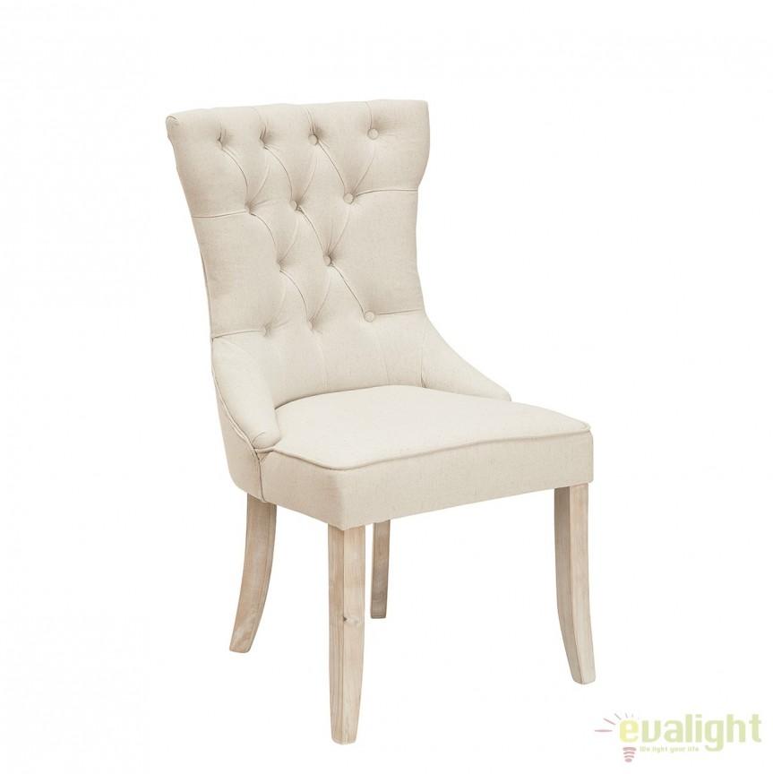 Set de 2 scaune elegante cu tapiterie din IN, Castle bej A-38587 VC, Seturi scaune dining, scaune HoReCa, Corpuri de iluminat, lustre, aplice, veioze, lampadare, plafoniere. Mobilier si decoratiuni, oglinzi, scaune, fotolii. Oferte speciale iluminat interior si exterior. Livram in toata tara.  a