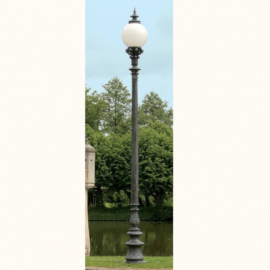 Stalp iluminat exterior din fier forjat, inaltime 383cm, AL 6665, ILUMINAT FIER FORJAT DE LUX ,  a