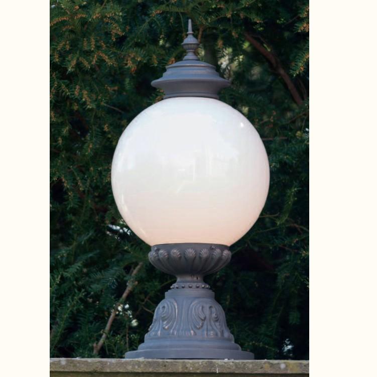 Stalp iluminat exterior din fier forjat, inaltime 84,3cm, AL 6863, Stalpi Fier Forjat,  a