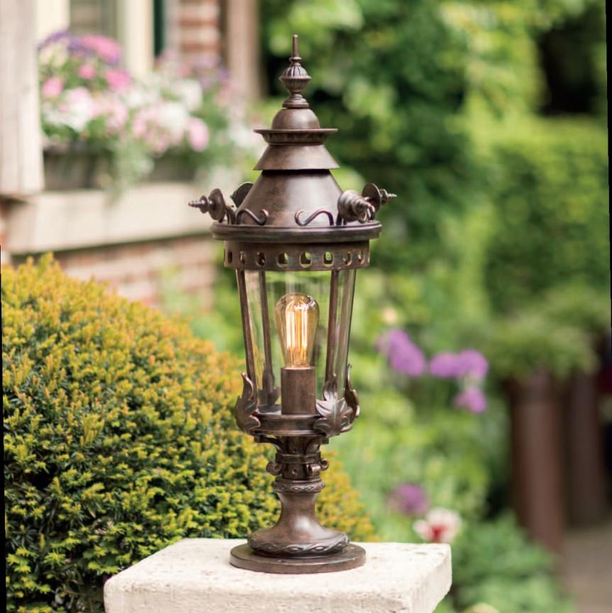Stalp iluminat exterior din fier forjat, inaltime 73cm, AL 6543 , Stalpi Fier Forjat,  a