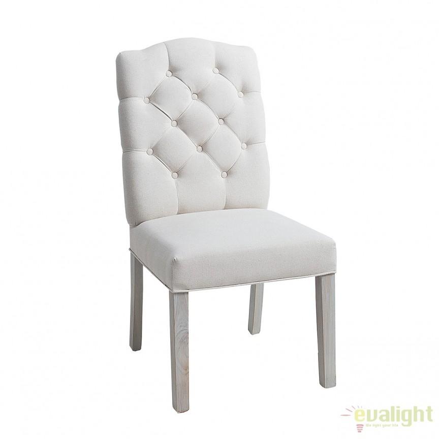 Set de 2 scaune elegante cu tapiterie din IN, Castle bej A-37875 VC, Seturi scaune dining, scaune HoReCa, Corpuri de iluminat, lustre, aplice, veioze, lampadare, plafoniere. Mobilier si decoratiuni, oglinzi, scaune, fotolii. Oferte speciale iluminat interior si exterior. Livram in toata tara.  a